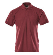 00783-260-22 Polo Shirt with chest pocket - bordeaux