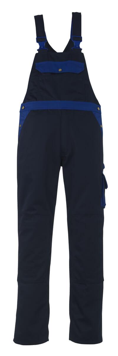 00969-430-1101 Bib & Brace with kneepad pockets - royal/navy