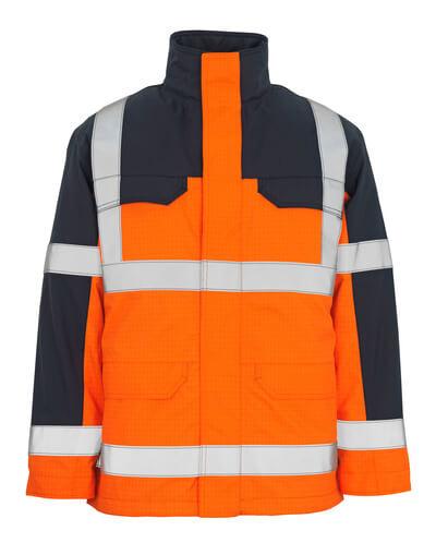 06831-064-141 Parka Jacket - hi-vis orange/navy