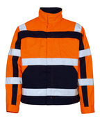 07109-860-141 Jacket - hi-vis orange/navy