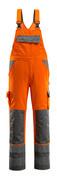 07169-860-14888 Bib & Brace with kneepad pockets - hi-vis orange/anthracite