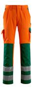 07179-860-1403 Trousers with kneepad pockets - hi-vis orange/green