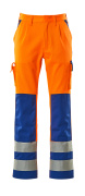 07179-860-1411 Trousers with kneepad pockets - hi-vis orange/royal