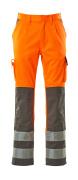 07179-860-14888 Trousers with kneepad pockets - hi-vis orange/anthracite