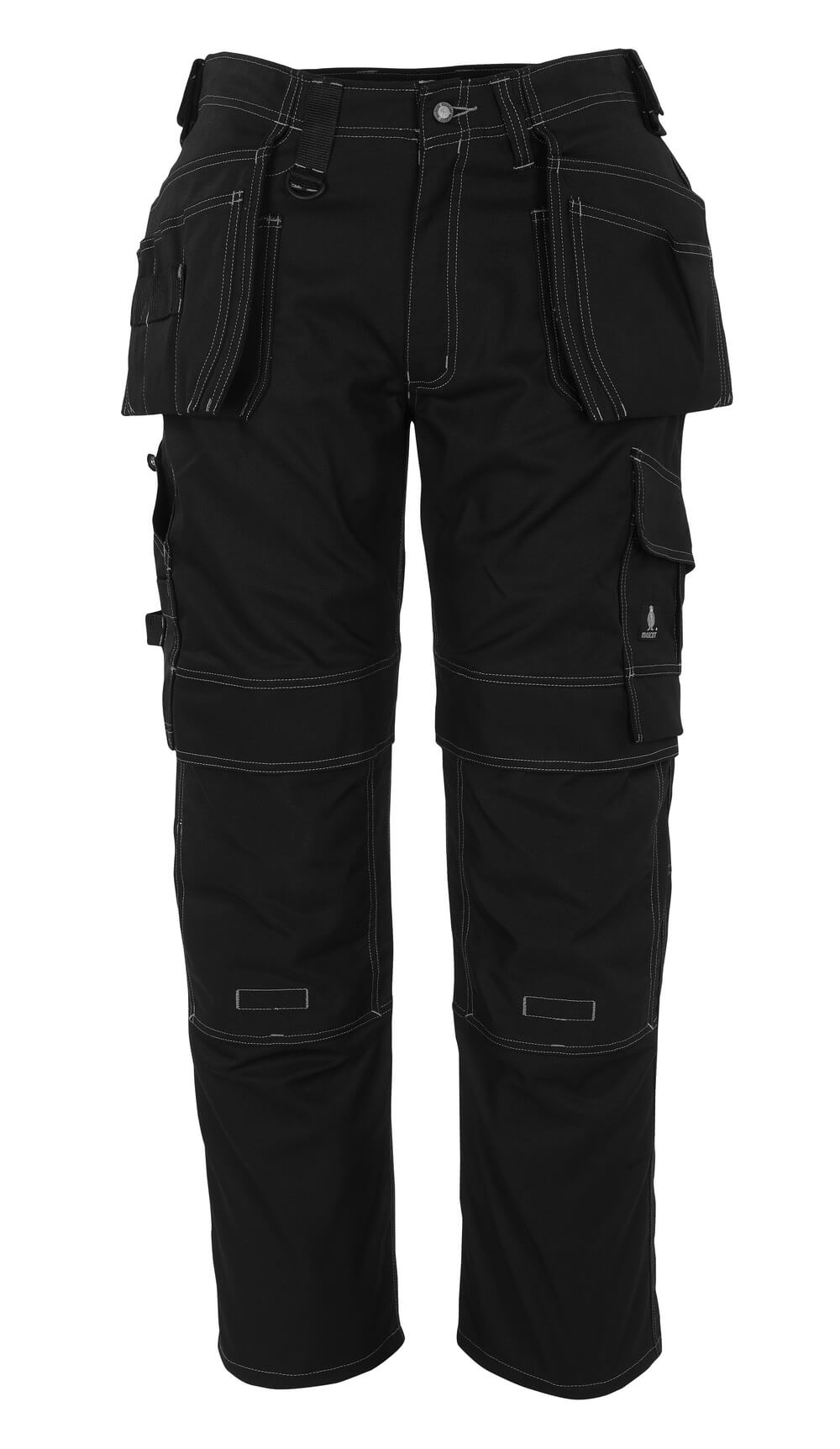 08131-010-09 Trousers with kneepad pockets and holster pockets - black