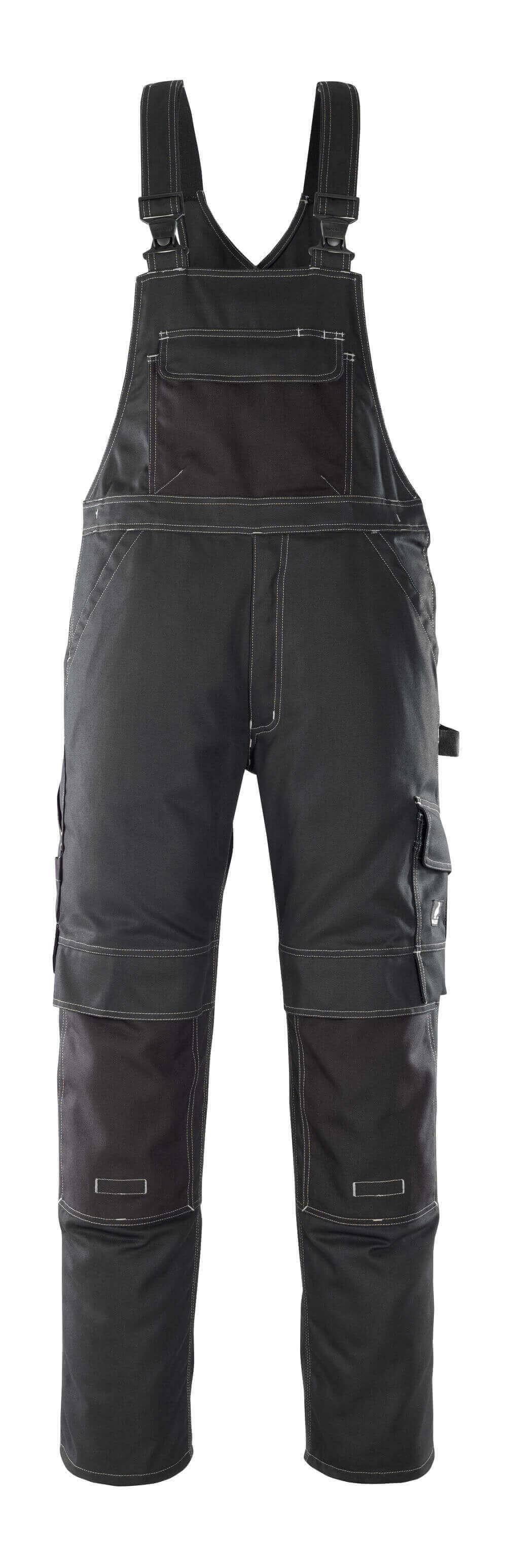 08269-010-09 Bib & Brace with kneepad pockets - black