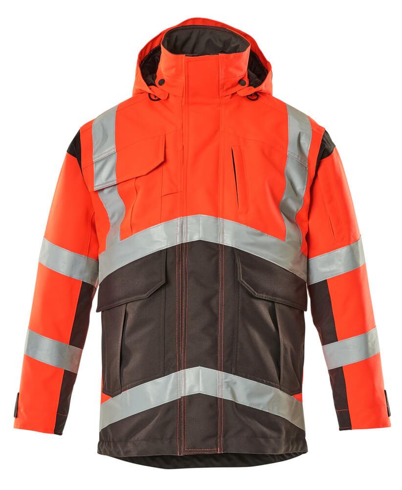 09030-025-A49 Parka Jacket - hi-vis red/dark anthracite