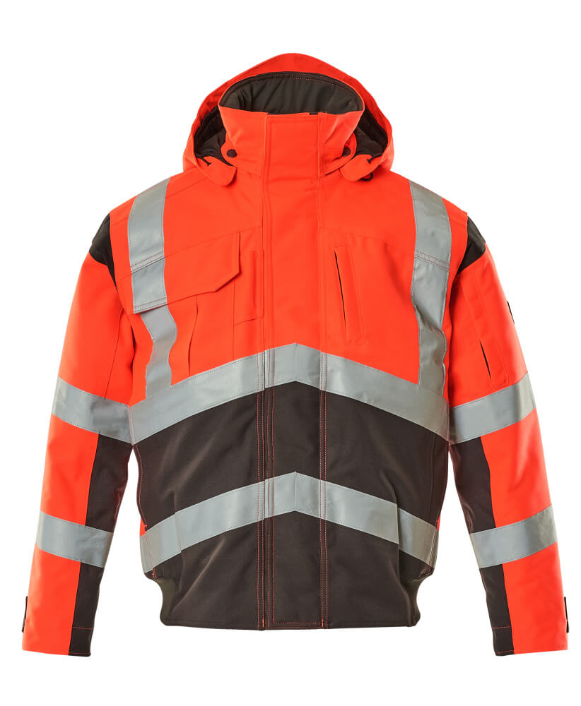 09035-025-A49 Pilot Jacket - hi-vis red/dark anthracite