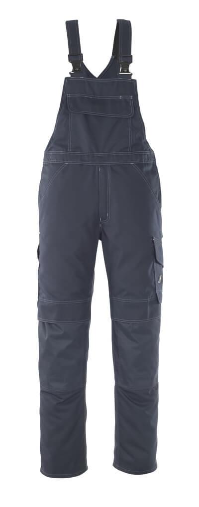 10169-154-010 Bib & Brace with kneepad pockets - dark navy