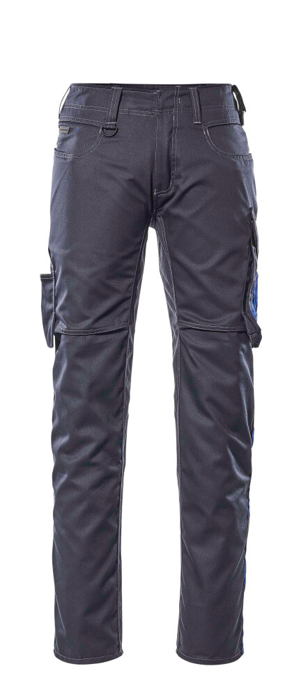12579-442-01011 Trousers with thigh pockets - dark navy/royal