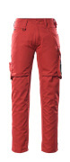 12579-442-0209 Trousers with thigh pockets - red/black