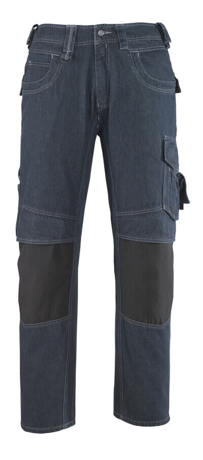 13279-207-B52 Jeans with kneepad pockets - denim blue