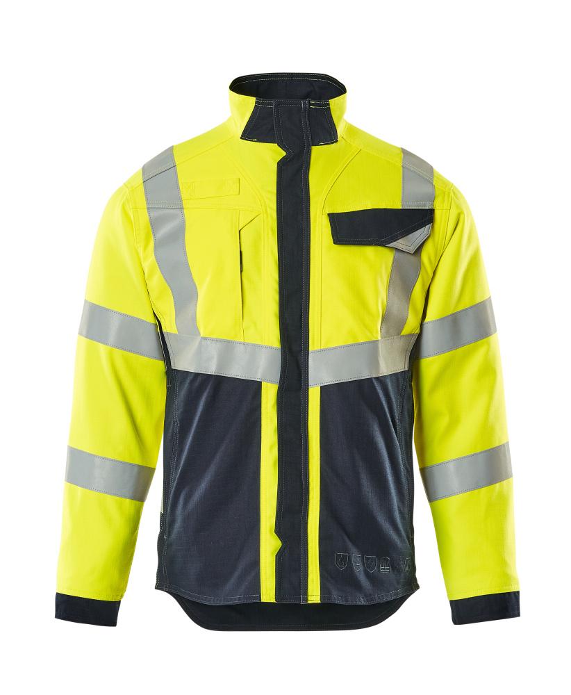 13809-216-17010 Jacket - hi-vis yellow/dark navy