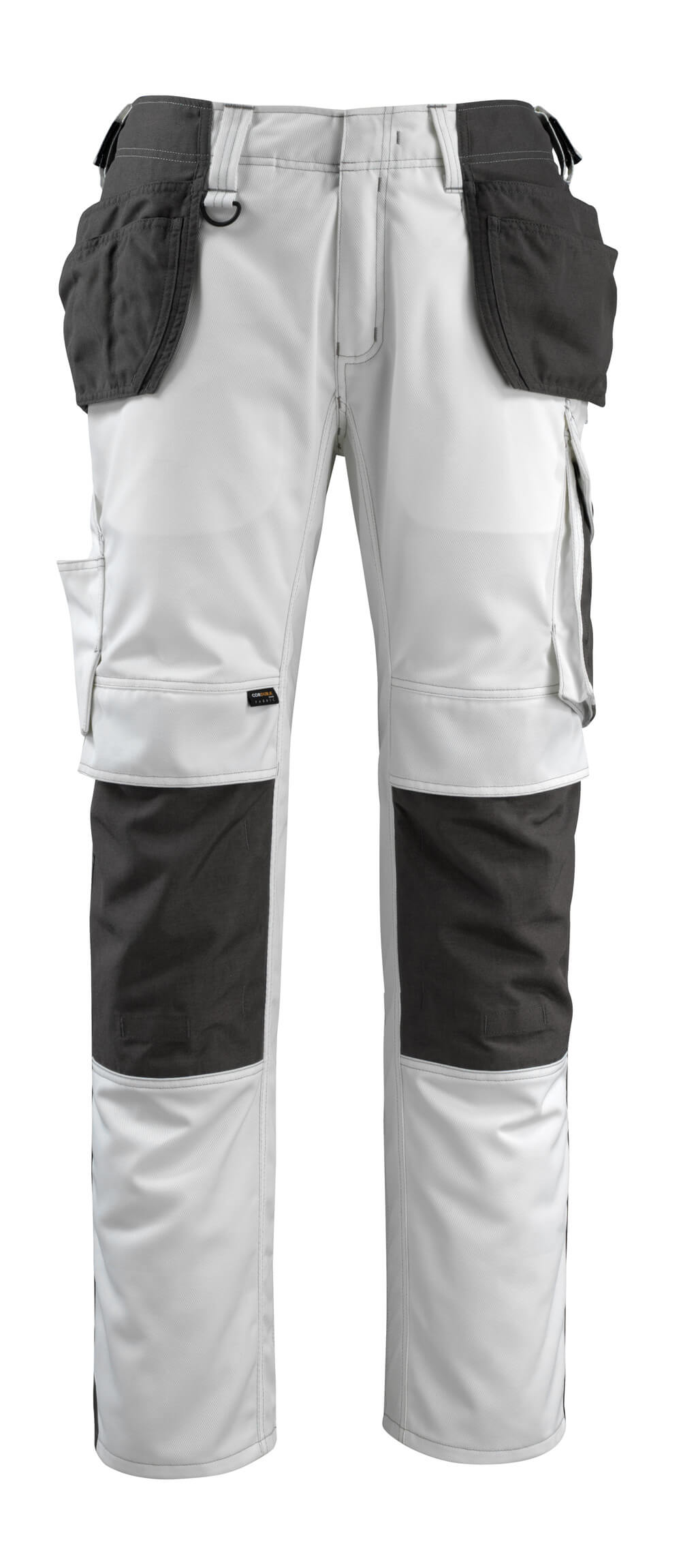 14031-203-0618 Trousers with kneepad pockets and holster pockets - white/dark anthracite