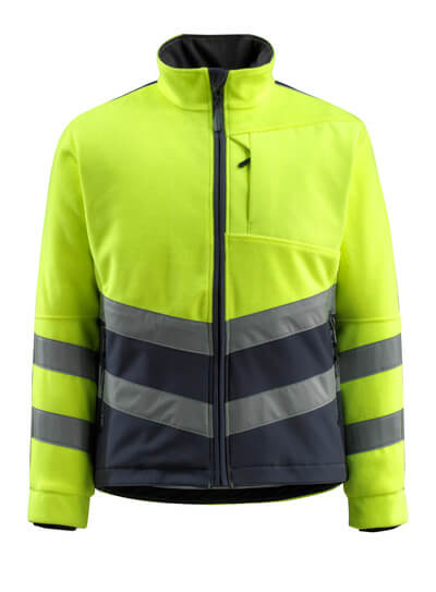 15503-259-14010 Fleece Jacket - hi-vis orange/dark navy
