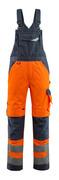 15569-860-14010 Bib & Brace with kneepad pockets - hi-vis orange/dark navy