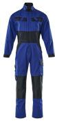 15719-330-11010 Boilersuit with kneepad pockets - royal/dark navy