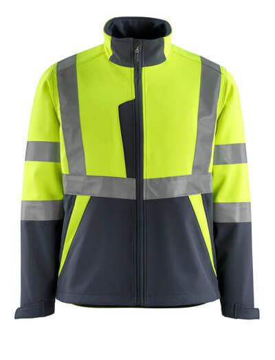 15902-253-17010 Softshell Jacket - hi-vis yellow/dark navy