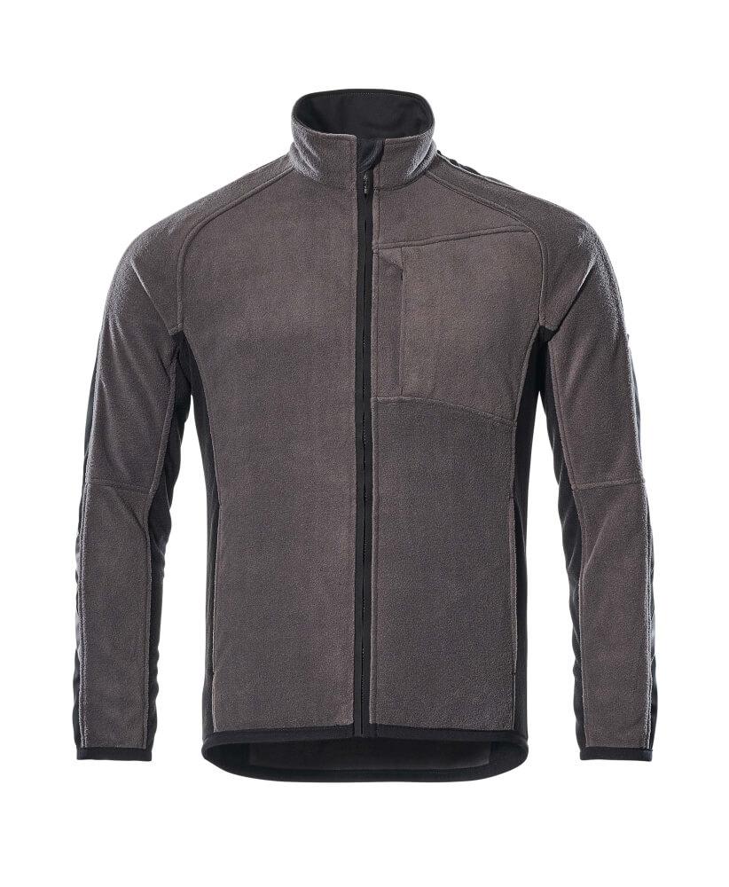 16003-302-1809 Fleece Jacket - dark anthracite/black