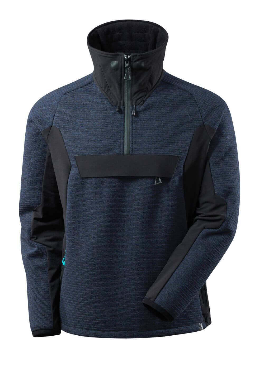 17005-309-01009 Knitted Jacket with half zip - dark navy/black