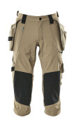 17049-311-55 ¾ Length Trousers with kneepad pockets and holster pockets - light khaki