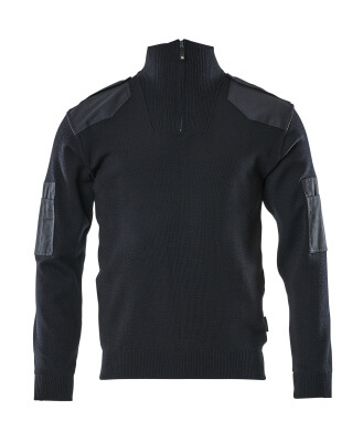 17205-939-010 Knitted Jumper with half zip - dark navy