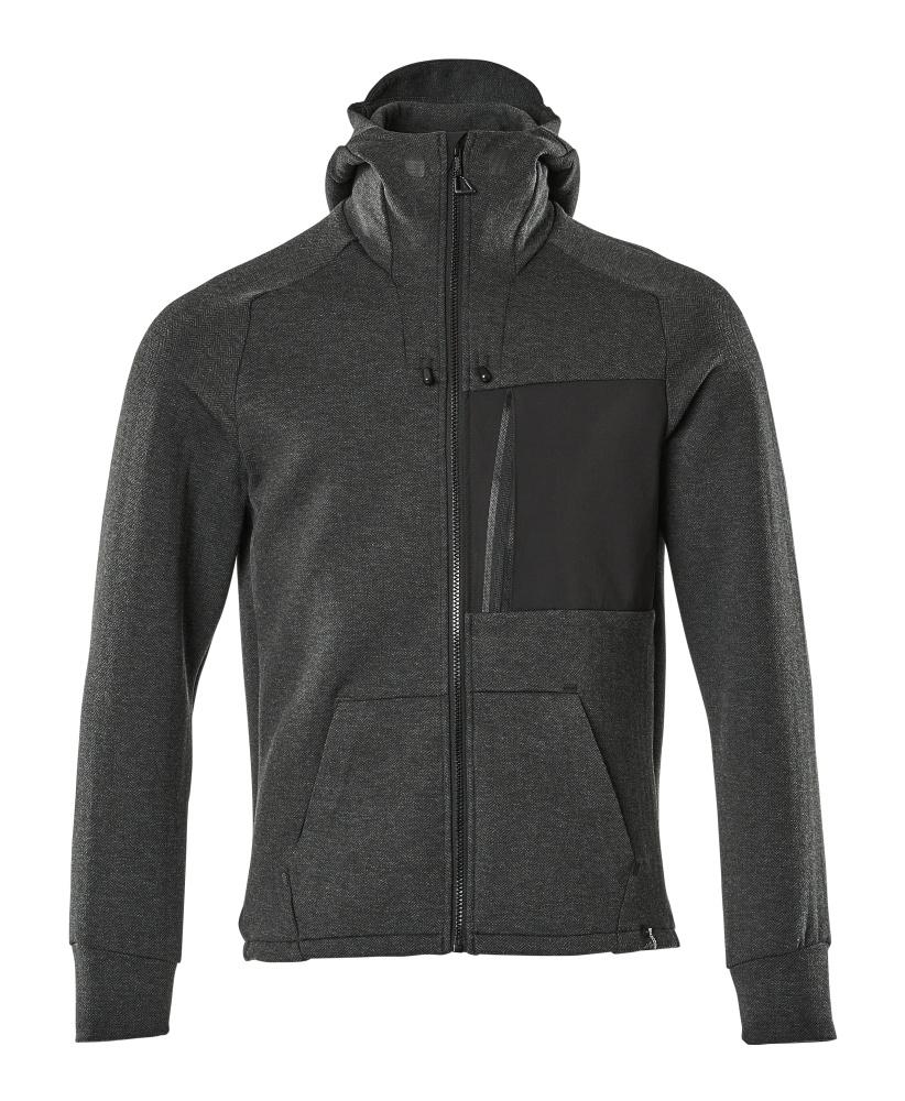 17384-319-09 Hoodie with zipper - black