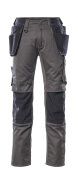 17631-442-1809 Trousers with kneepad pockets and holster pockets - dark anthracite/black