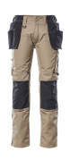 17631-442-5509 Trousers with kneepad pockets and holster pockets - light khaki/black