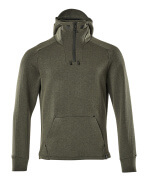 17684-319-3309 Hoodie with half zip - moss green/black
