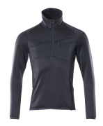 18003-316-010 Fleece Jumper with half zip - dark navy