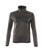 18053-316-1809 Fleece Jumper with half zip - dark anthracite/black
