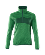 18053-316-33303 Fleece Jumper with half zip - grass green/green
