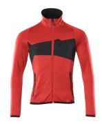 18103-316-20209 Fleece Jumper with zipper - traffic red/black