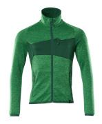18103-316-33303 Fleece Jumper with zipper - grass green/green