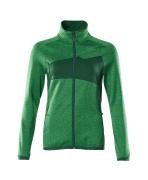 18153-316-33303 Fleece Jumper with zipper - grass green/green