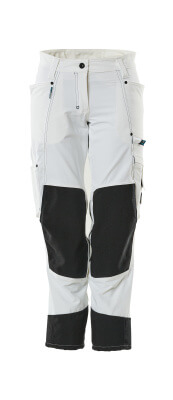 18378-311-06 Trousers with kneepad pockets - white