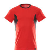 18382-959-20209 T-shirt - traffic red/black