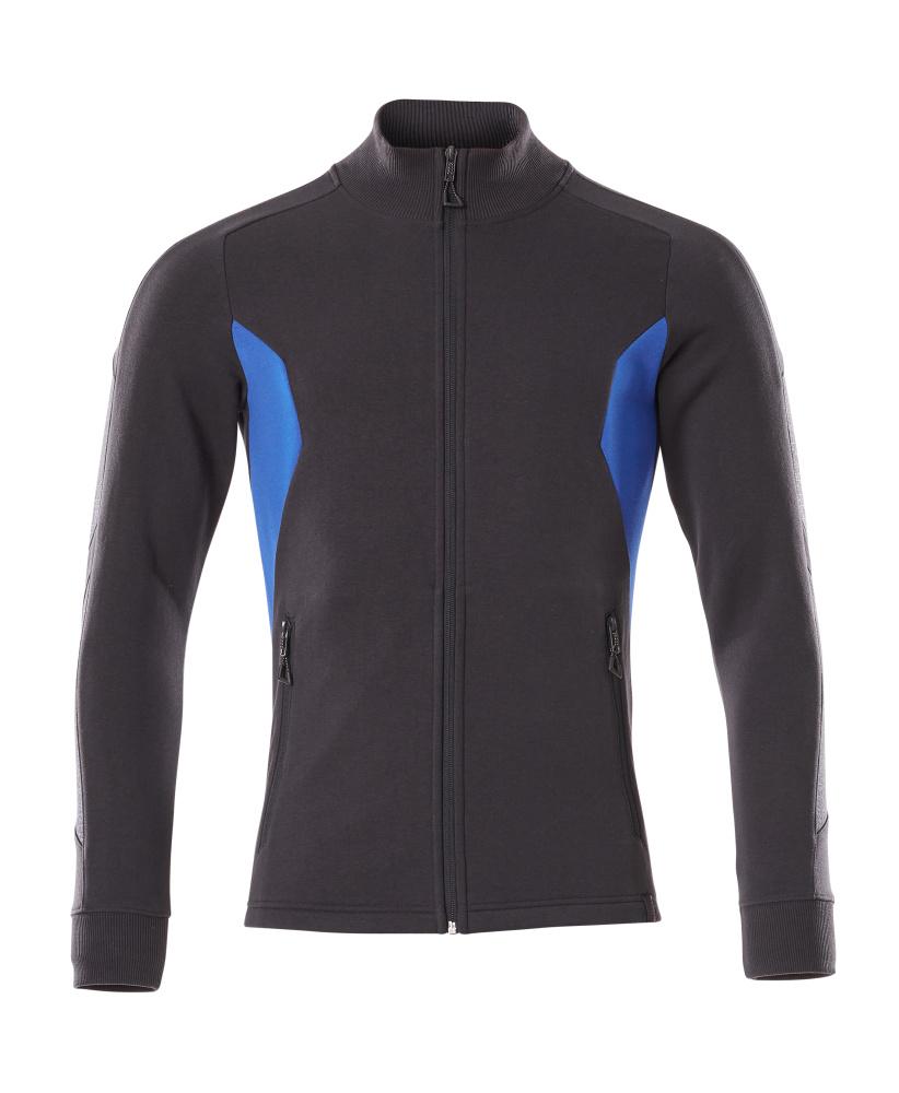 18484-962-01091 Sweatshirt with zipper - dark navy/azure blue