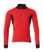 18484-962-20209 Sweatshirt with zipper - traffic red/black