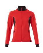 18494-962-20209 Sweatshirt with zipper - traffic red/black