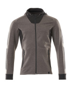 18584-962-1809 Hoodie with zipper - dark anthracite/black