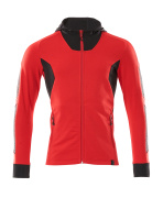 18584-962-20209 Hoodie with zipper - traffic red/black