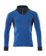 18584-962-01091 Hoodie with zipper - dark navy/azure blue