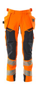 19031-711-14010 Trousers with holster pockets - hi-vis orange/dark navy