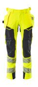 19031-711-14010 Trousers with holster pockets - hi-vis orange/dark navy