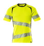 19082-771-14010 T-shirt - hi-vis orange/dark navy