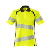 19093-771-14010 Polo shirt - hi-vis orange/dark navy