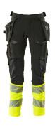 19131-711-01014 Trousers with holster pockets - dark navy/hi-vis orange