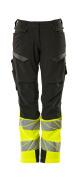 19178-511-01014 Trousers with kneepad pockets - dark navy/hi-vis orange